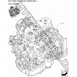 Двигатель/ENGINE New Holland B110