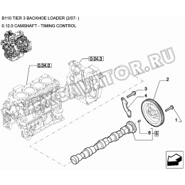 Вал распределительный/CAMSHAFT - TIMING CONTROL New Holland B110
