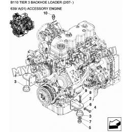 Подвеска двигателя/ACCESSORY ENGINE New Holland B110