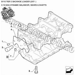 Валы балансирные/DYNAMIC BALANCER, GEARS & SHAFTS New Holland B110