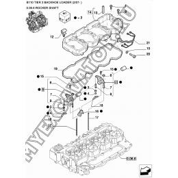 Клапанный механизм/ROCKER SHAFT New Holland B110