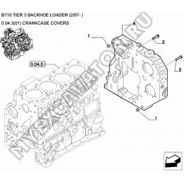 Крышки блока цилиндров/CRANKCASE COVERS New Holland B110