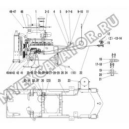 Двигатель A1-2901001547 SDLG LG936L