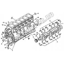Блок цилиндров BP9072ZZ A6-4110000555 SDLG LG936L