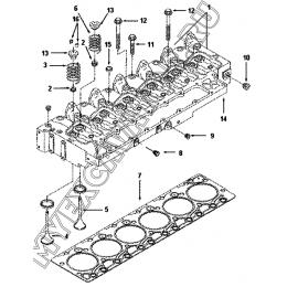 Головка блока цилиндров PP9980-01ZZ A40-4110000555 SDLG LG936L