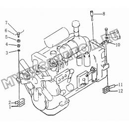 101 Детали опоры двигателя Shantui SD16