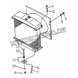 302 Детали опоры радиатора Shantui SD16