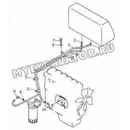 402 Трубопровод топливный Shantui SD16