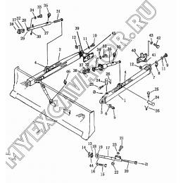 8003 Отвал наклоняемый прямой Shantui SD16