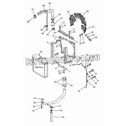 301 Подвод и защитный кожух радиатора Shantui SD16