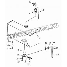 401 Бак топливный Shantui SD16