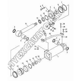 8402 Гидроцилиндр рыхлителя Shantui SD16