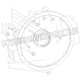 Картер маховика 1640H-1600000 Yuchai YC6108G