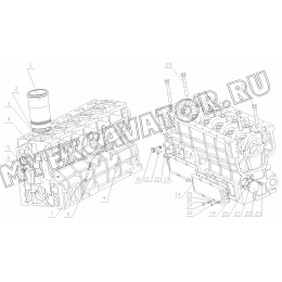 Блок-картер B7615-1002000 Yuchai YC6108G