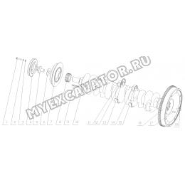Коленчатый вал и маховик 1640H-1005000 Yuchai YC6108G