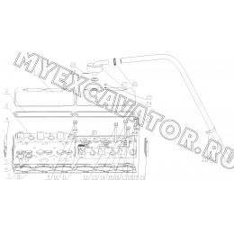 Головка цилиндров и крышка B7605-1003000 Yuchai YC6108G