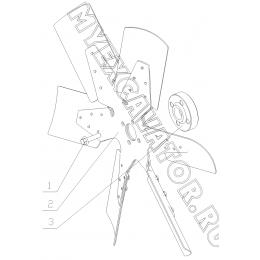 Вентилятор 310-1308000 Yuchai YC6108G