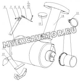 Воздухоочиститель 1640H-1109000 Yuchai YC6108G
