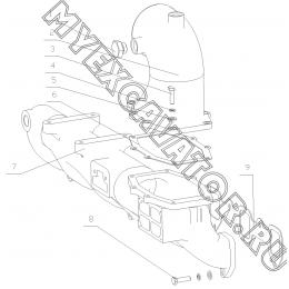 Впускной коллектор и впускной патрубок 311-1008100&B7615-1008500 Yuchai YC6108G