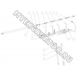 Трубопроводы системы питания B7615-1104000 Yuchai YC6108G