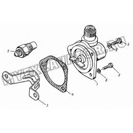 Привод тахоспидометра. Датчик (Д120-04, Д120-06, Д120-18, Д120-24, Д120-30, Д120-32, Д120-46) ВТЗ Д-120