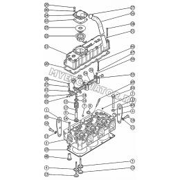 Установка головки цилиндров. Механизм коромысел. Установка крышки головки цилиндров. Установка свечей накаливания ММЗ 3LD