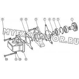 Установка привода гидронасоса ММЗ 3LD