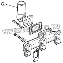 Установка выпускного тракта (для 3LD-1008050Б) ММЗ 3LD