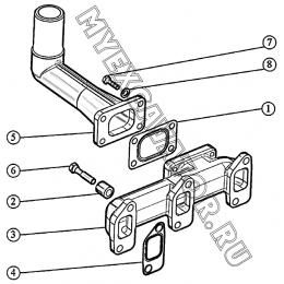 Установка выпускного тракта (для 3LD-1008050) ММЗ 3LD