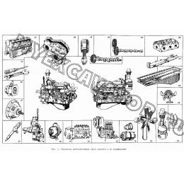 Указатель конструктивных групп дизелей и их модификаций АМЗ А-01