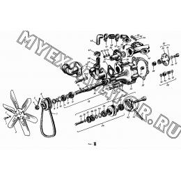 Насос водяной, вентилятор и натяжитель АМЗ А-01